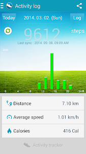 screenshot of Samsung Activity Tracker version 1.44