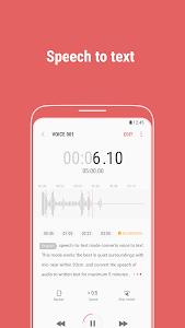 screenshot of Samsung Voice Recorder version Varies with device