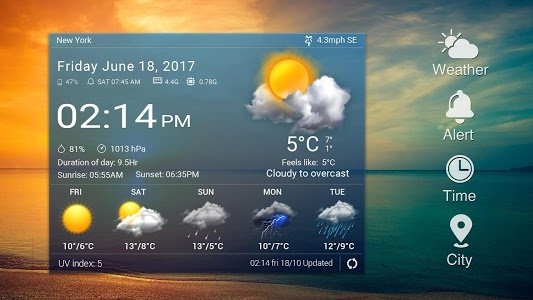screenshot of Sense Flip clock weather forecast ⚡ version 16.1.0.47691