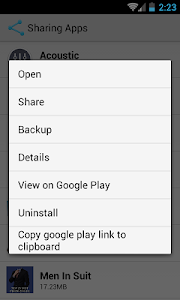 screenshot of Sharing Apps version share.amaz.apps