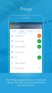 screenshot of SmartThings Mobile version 2.0.2