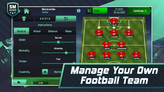 screenshot of Soccer Manager 2020 - Football Management Game version 1.1.8