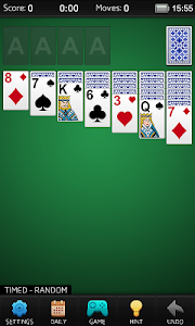screenshot of Solitaire version 2.5