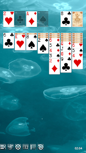 screenshot of Solitaire Free version 5.8