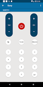 screenshot of Universal Remote For Sony version 1.3