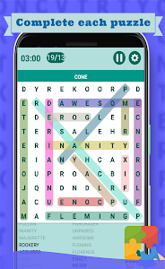 screenshot of Word Search game 2019 version 1.6.9