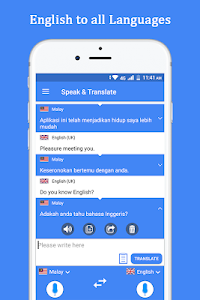 screenshot of Speak and Translate Voice Translator & Interpreter version 3.0