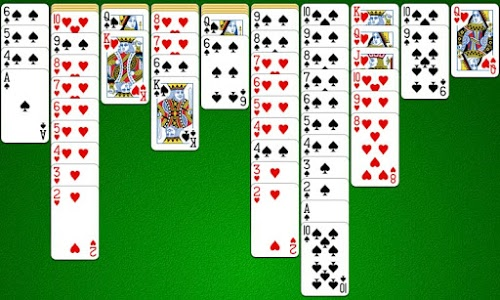 screenshot of Spider Solitaire version 5.0.2