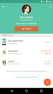 screenshot of Splitwise version 4.1.12