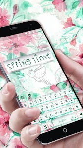 screenshot of Springtime Flowers Keyboard Theme version 2.0