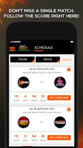 screenshot of Star Sports Pro Kabaddi version 1.3