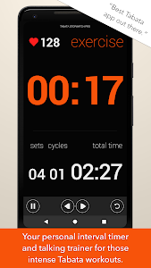 screenshot of Tabata Timer and HIIT Timer for Interval Workouts version 2.1.4