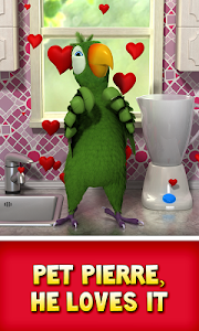 screenshot of Talking Pierre the Parrot version 3.5.0.5