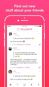 screenshot of Tellonym version 2.4.1