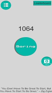 screenshot of The Boring Button version 0.1