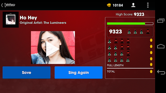 screenshot of The Voice: On Stage version 3.1.9-09/12-34ccc77