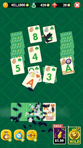 screenshot of Theme Solitaire - Tower TriPeaks version 1.2.17