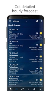 screenshot of Transparent clock & weather - forecast & radar version 4.1.1.2