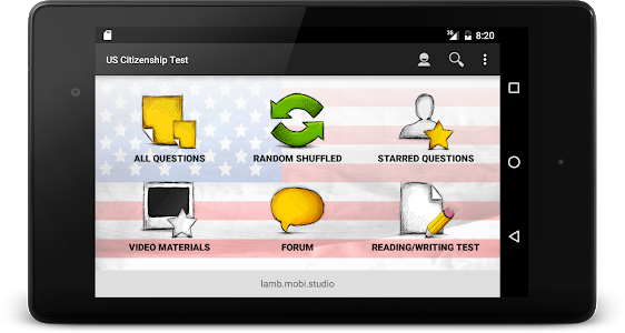 screenshot of US Citizenship Test 2019 Audio version 2.10.2
