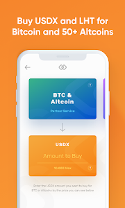 screenshot of USDX Wallet - blockchain wallet with stable crypto version 1.26.0
