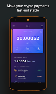 screenshot of USDX Wallet - blockchain wallet with stable crypto version 1.17.0