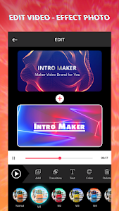 screenshot of Intro Maker With Music, Video Maker & Video Editor version 1.6.196