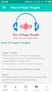 screenshot of Voice of Happy Thoughts version 1.5