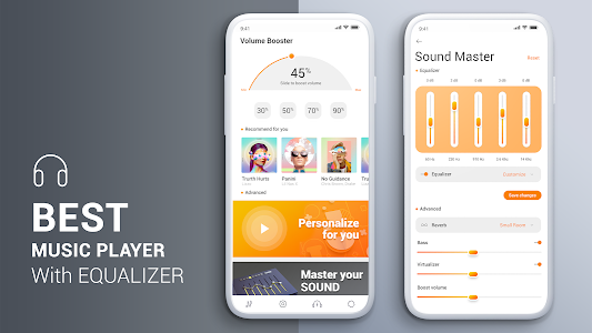 screenshot of Volume Booster Music Player And Sound Booster version 1.1.4