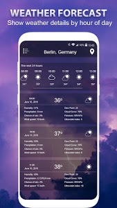 screenshot of Weather forecast version 1.2.1
