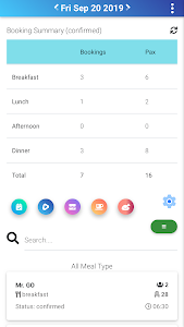 screenshot of Weeloy Manager version 2.1.0
