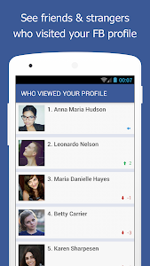 screenshot of Who Viewed My Facebook Profile - Stalkers Visitors version 3.4.1