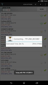 screenshot of Wifi WPS Unlocker version 2.1.2