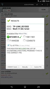screenshot of Wifi WPS Unlocker version 2.2.2