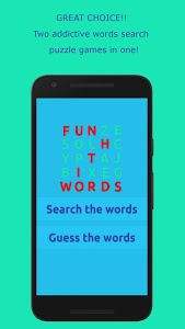 screenshot of Word Search Puzzles - Fun With Words version 1.1