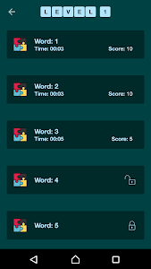 screenshot of Word Search Quiz (English) version 1.6