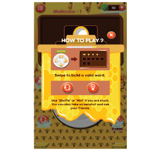 screenshot of WordBee : Word Connect Puzzle version 0.5