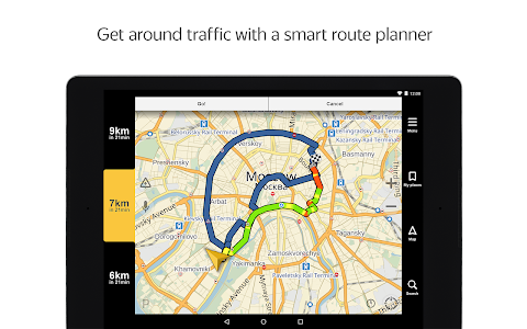 screenshot of Yandex.Navigator version 3.91