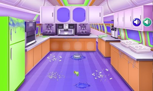 screenshot of airplane cleanup game kids version 2.0.0
