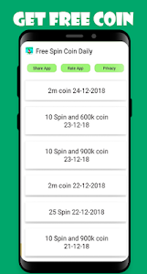 screenshot of free coin and spin master version 1.2