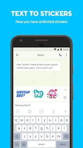 screenshot of hike messenger: Stickers, Hidden Chat, Timeline version Varies with device
