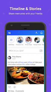 screenshot of hike messenger (News, Content & Messaging) version Varies with device
