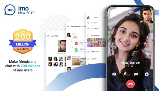 screenshot of imo free video calls and chat version 2019.4.21