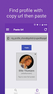screenshot of insFull - big profile photo picture version 2.0.2
