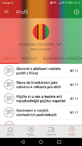 screenshot of mBank CZ version Varies with device