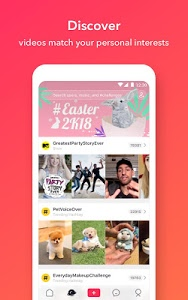 screenshot of musical.ly version 7.1.0