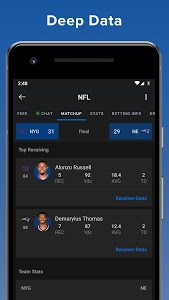 screenshot of theScore: Live Sports Scores, News, Stats & Videos version 20.3.0