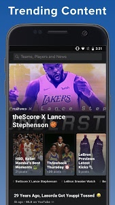 screenshot of theScore: Live Sports Scores, News, Stats & Videos version 6.21.2